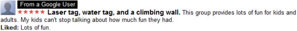 GOOGLE REVIEWS - GOTCHA GAMES - Laser Tag, Water Tag, Climbing Walls - Des Moines IA Ames IA